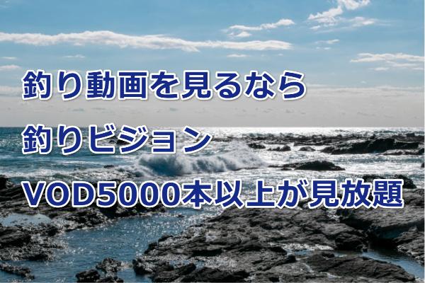 釣り動画を見るなら釣りビジョンVOD5000本以上が見放題