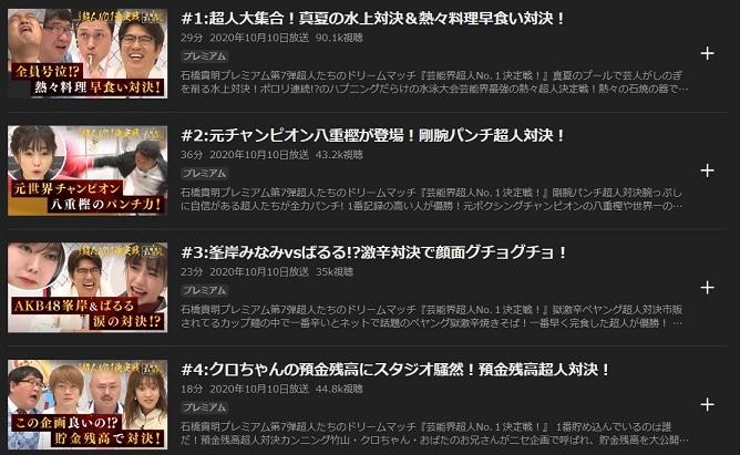 芸能界超人No.1決定戦見逃し配信と無料で視聴する方法
