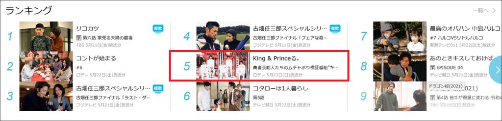 King&Princeる見逃し配信TVER